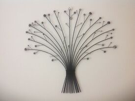 Great Christmas Prezzie Idea! Wall Hanging Black Metal and Glass Artwork