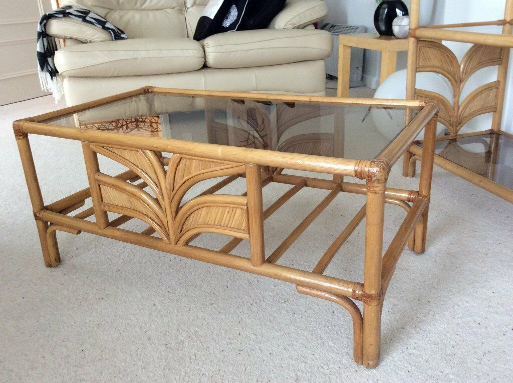 Cane Shelving Unit Coffee Table