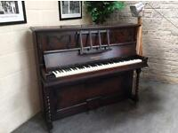 Beautiful 1930 Oak Monington & Weston overstrung upright piano - CAN DELIVER