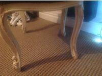 Beautiful,original vintage heavy French style chair ,large ,carving shabby chic effect but original