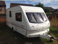 2000 elddis hurrican nice clean dry van 2 berth £2,375.oo