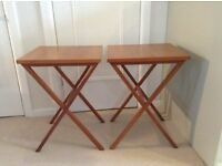 Tables - Occasional Tables - Solid Wood - Light Oak - Flexible Use any room or garden. £15 Pair