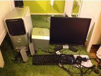 """Dell E520 Desktop Windows XP Speaker Set 19"""" Monitor"""