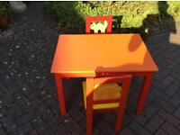 9 Children's chairs and 3 tables job lot £20