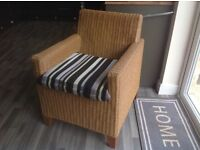 Wicker/Rattan conservatory chair with seat pad