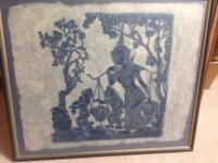 Stone Rubbing on Hand Made Paper