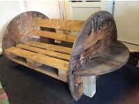 Lovely shabby chic pallet bench for sale!