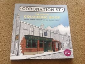 New coronation street colouring book