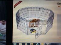 8 panel pet play pen dog puppy animal rabbit Large cage run folding garden fence