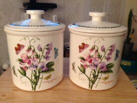 Portmeirion storage jars, large Ceramic