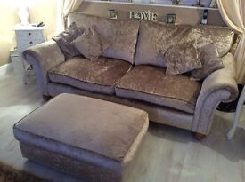 Sofa chairs and pouffe new