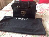 Black DKNY Handbag with Dust Bag