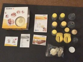 Medela swing double breast bump and accessories