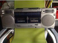 Vintage Philips Super tandem stereo radio cassette recorder