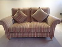 Parker Knoll Burghley Sofas x 2 with matching Armchair & 5 scatter cushions