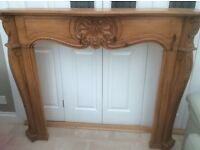 Stunning feature fire surround/mantle Ornate carved solid oak outstanding quality