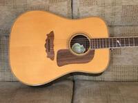 Washburn D33S Dreadnought acoustic Guitar Made in Korea 1998 inc gig bag