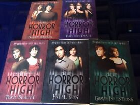 """Collection of """"Horror High"""" books"""