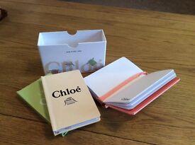 CHLOE DESIGNER BLANK BOOK SET BRAND NEW