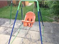 Swing for an 18 months plus, metal frame