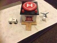 Wooden Thomas, rescue hospital with Harold
