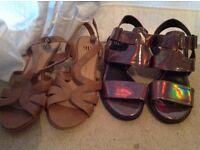 Women's size 2 sandals - girls sandals - size 2 shoes