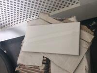 38 x WHITE CERAMIC WALL TILES