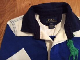 Blue white Ralph Lauren boys top