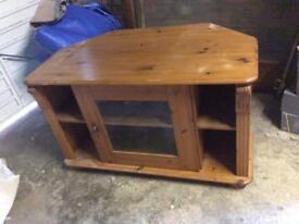 Pine and glazed TV stand