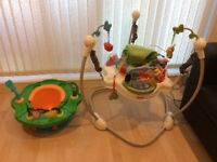 Baby jumperoo/jumper and baby seat / play station