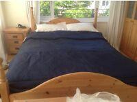 Dark blue John Lewis bed throw