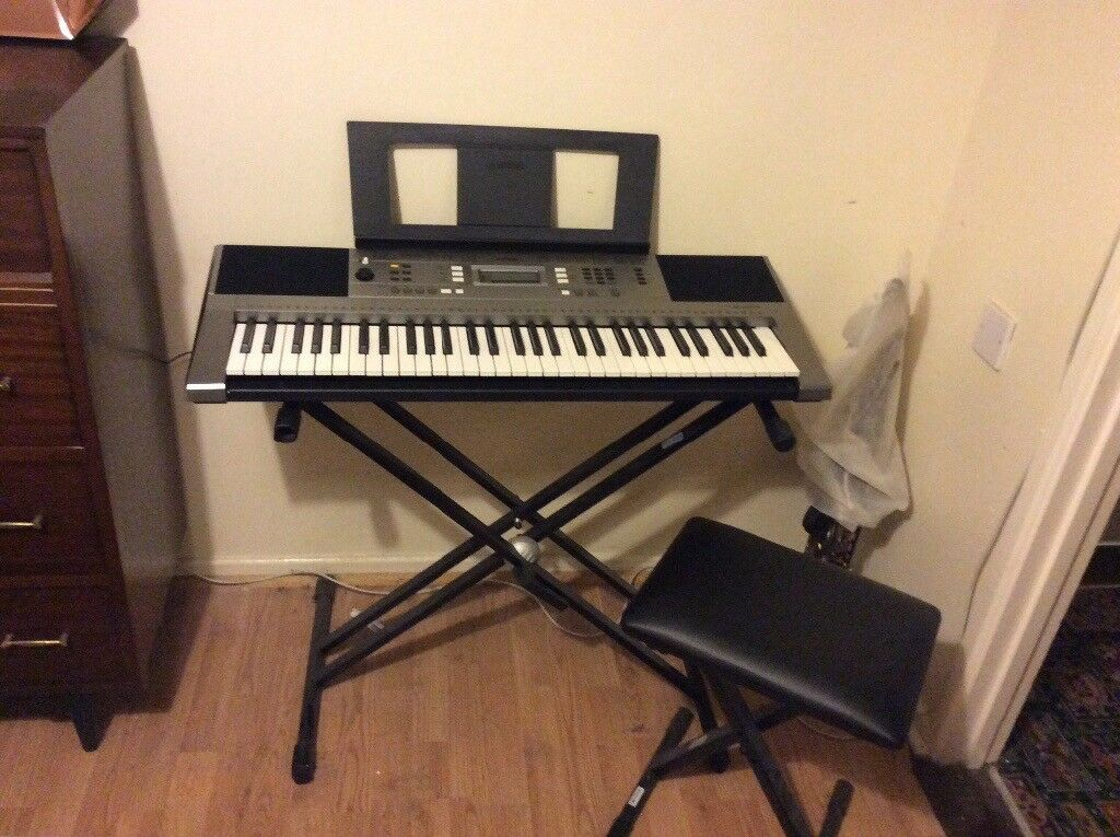 yamaha psr e353 keyboard stand stool in eglinton. Black Bedroom Furniture Sets. Home Design Ideas