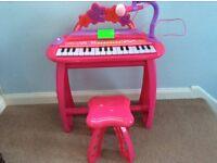 Toy electronic mini keyboard