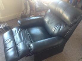 Black reclining arm chair