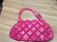 One pink one brown lovely handbag