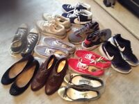 10 pairs of Good condition size 6 ladies or Teens trainers and shoes