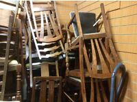 Job lot of 30 vintage dining chairs