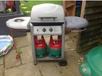 Outdoor Barby With 2 gas cylinders