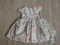 Brand new Mothercare Cotton Butterfly Dress Age 3-4 Years
