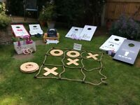 Wedding lawn games, handmade for hire or purchase