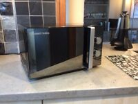Russell Hobbs 800w microwave black casing (model RHM2061)