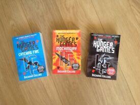 Hunger games trilogy book set never been read