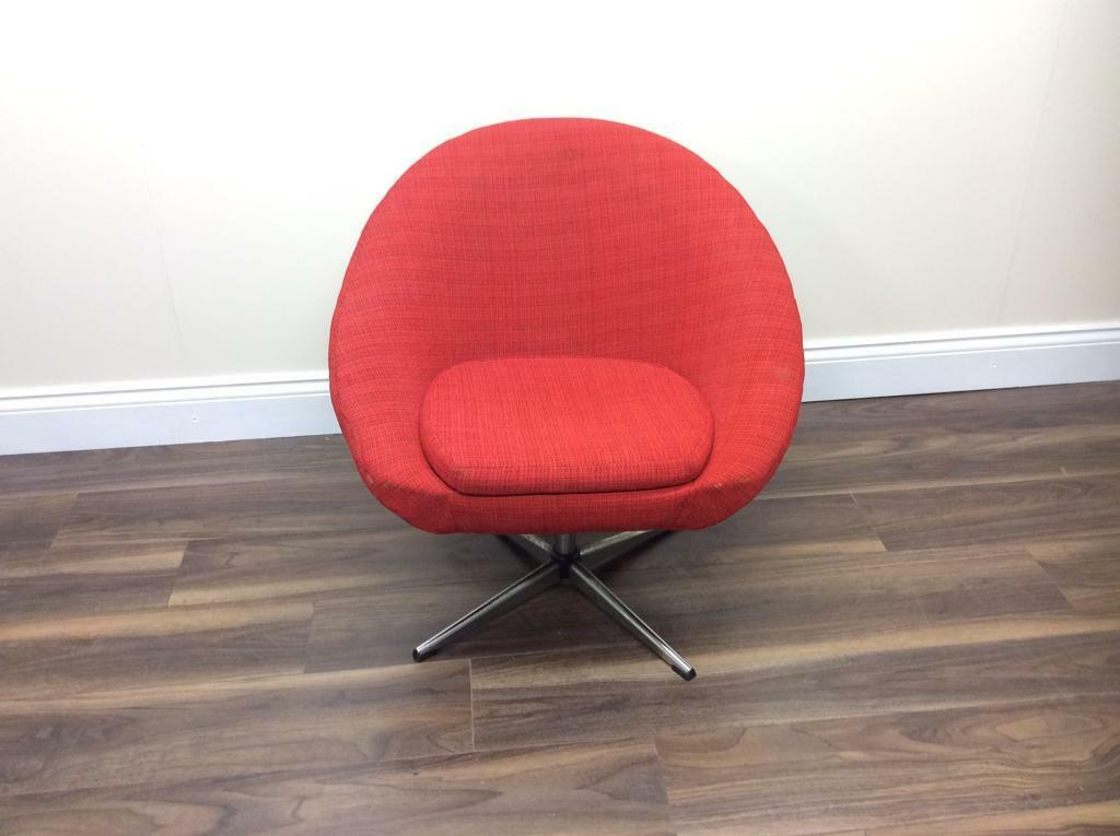 Vintage Mid Century Swivel Egg Chair