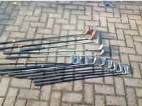 Set of golf clubs including 2 drivers