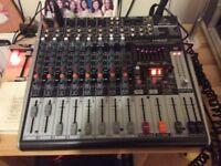 Behringer mixing desk x1222 usb nenyx 24 bit multi fx processer mixer.
