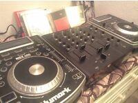 Vestax VMC-004XLu mixer + Numark NDX400 CDJs