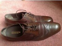 Men's M&S Collezione Brown Leather Shoes UK size 8