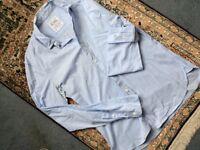 ALL SAINTS Men Light Blue Lightweight Cotton Shirt, Size S
