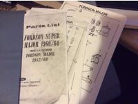 Tractor Fordson Super Major Parts Manual £25