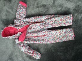 Joules ditsy floral print snowsuit 2-3 years